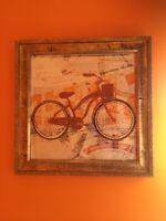 Decor- set of frames bike prints