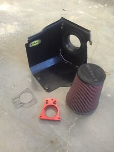 Airaid air intake and throttle body spacer for Chevy or Gmc
