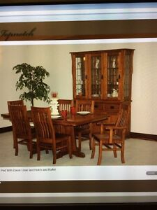 Solid Oak Kitchen Table and Chairs Authentic Mennonite SOLID OAK