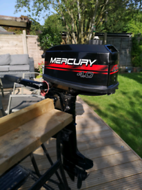Mercury 4 hp two stroke outboard boat engine