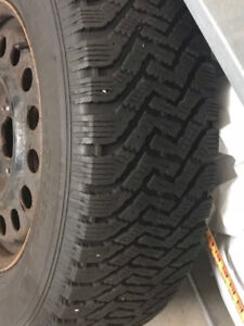 4 Goodyear Winter Tires With Rims, 235/65/16 Bolt Size 5 x 115