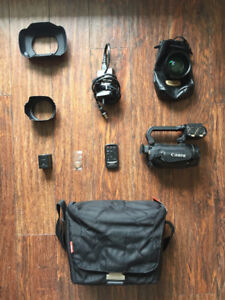 Canon XA10 with accessories and wide lense - (price negotiable)
