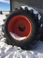 """20.8-38 R1 8ply Rating Tractor Tires on 18"""" rims"""