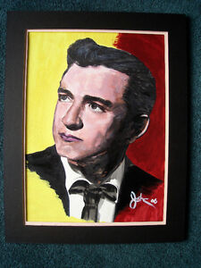 FOR SALE BY ARTIST 1 OF A KIND ORIGINAL JOHNNY CASH PAINTING