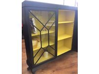 Hand painted glazed cabinet - Annie Sloan