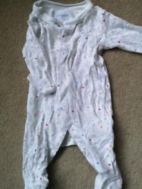 Jojo maman Bebe sleepsuit 0-3 months