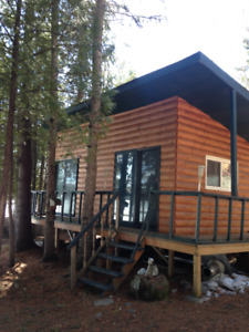 Why tent when you can rent--lakefront guest cabin for rent