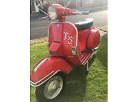 Vespa t5 125 cc fully restored stunning (poss swap or px for diesel car)