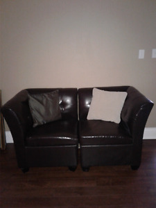 Moving sale - 2 piece storage love seat