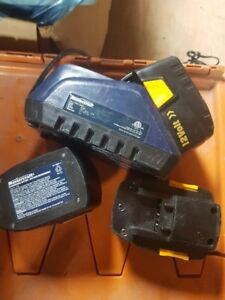 ASSORTED CORDLESS BATERYS & CHARGERS