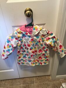 Girl 2T Minnie Mouse Rain Jacket