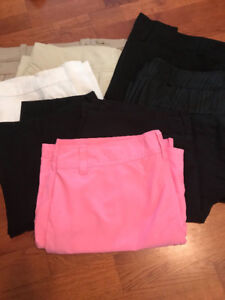 Bundle of Ladies Golf skorts, shorts and Capris!!