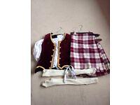 Girls highland dance kilt outfit