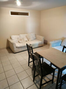 2 bedroom half basement unit for rent
