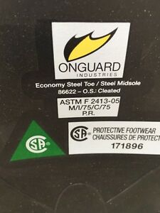 Brand new Size 8 Onguard Steel Toe Rubber Boots Strathcona County Edmonton Area image 3