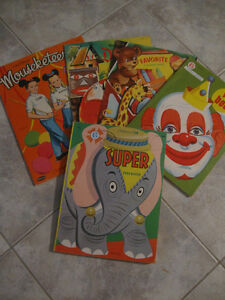 """GROUP of FIVE LITTLE """"RAINY-DAY KEEP BUSY BOOKS"""" for KIDS"""