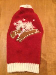 Pet Holiday Sweater & Reindeer Antlers