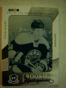 2010-11 The Cup Printing Plates Cyan #75 ALEX PLANTE #'d 1/1!