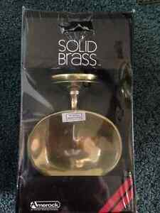 Brand new solid brass soap dish