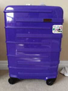 """MINT PURPLE Heys Helios 21"""" Small Cabin Carry On Luggage"""