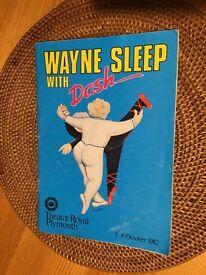 1982 Wayne Sleep with Dash programme.