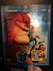 LION KING BLUERAY /DVD  + TOY STORY 3 BLUERAY/DVD