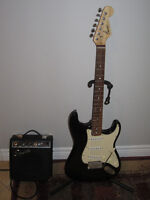 Squire by Fender electric Guitar + Amp