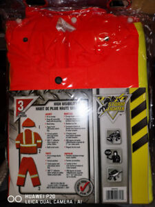 Safety Gear- 3-PIECE POLYESTER OXFORD  REFLECTIVE  SUIT