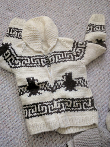 Native Indigenous Sweater hand knitted