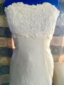 14d707c72d0 Size 8 10 Ivory Strapless Destination Wedding Dress