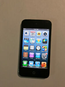 BLACK IPOD TOUCH 4TH GEN WITH OTTER BOX CASE