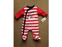 Mothercare sleepsuit 2.5 tog new with tags upto 1 month