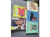 5 X fitness, health and dressing well books £4