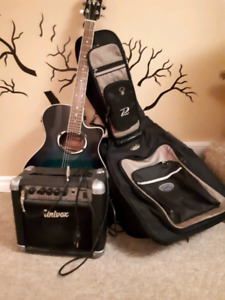 Yamaha APX 500 acoustic/electric guitar+accesories
