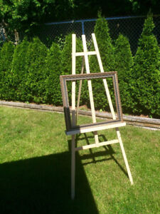 Easels and wedding decor items