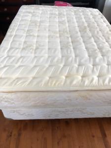 Queen size mattress, box spring & frame