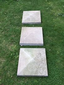 Pier caps pillar tops concrete coping stones