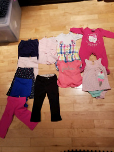 Lot de linge fillette 12-18 mois