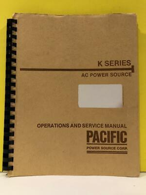 Pacific 108050 K Series Ac Power Sources Operations And Service Manual