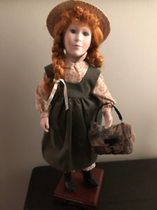"""Anne of Green Gables porcelain doll - approximately 16.5"""" tall"""