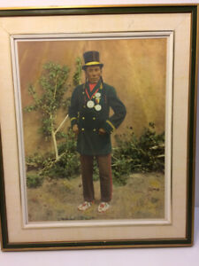 Native hand colored photograph, Yellow Horse