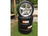4 new tyres one with a Volvo C70 5 spoke Alloy