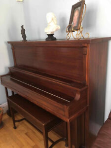 Beautiful Upright Piano & Bench for Sale