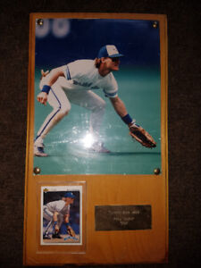 """Kelly Gruber Plaque 9"""" wide x 16"""" high."""