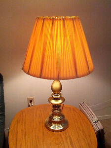 2 (Pair) Nice Matching Brass Table Lamps