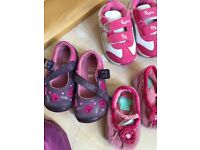 Baby girls shoes, 7 pairs, perfect condition