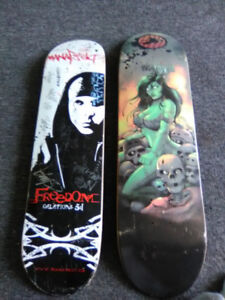 Two skateboards never used