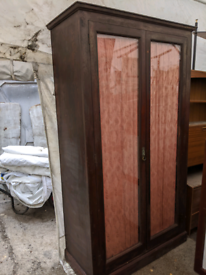 VINTAGE rustic French style wardrobe - extra tall
