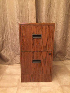 Metal Wood-look Filing Cabinet