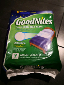 Good Nite Disposable Bed Mats 9 Count